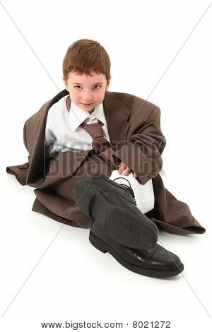 Boy In Big Suit
