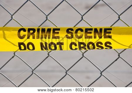 Close Up Of Crime Scene Do Not Cross