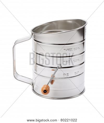 Stainless Sifter With A Crank