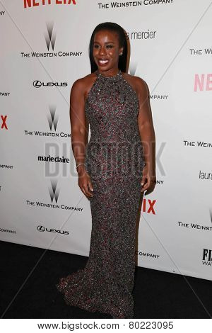 LOS ANGELES - JAN 11:  Uzo Aduba at the The Weinstein Company / Netflix Golden Globes After Party at a Beverly Hilton Adjacent on January 11, 2015 in Beverly Hills, CA