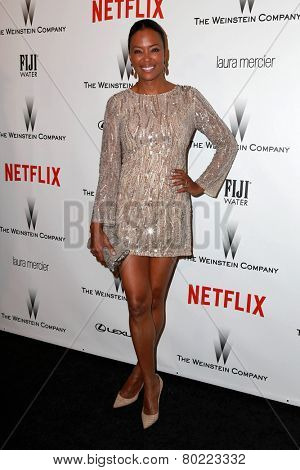LOS ANGELES - JAN 11:  Aisha Tyler at the The Weinstein Company / Netflix Golden Globes After Party at a Beverly Hilton Adjacent on January 11, 2015 in Beverly Hills, CA
