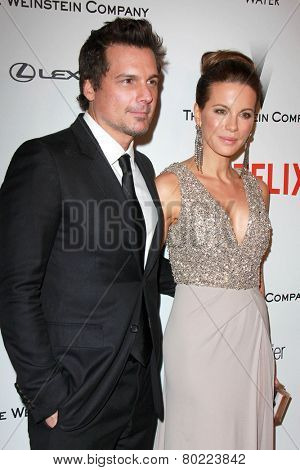 LOS ANGELES - JAN 11:  Len Wiseman, Kate Beckinsale at the The Weinstein Company / Netflix Golden Globes After Party at a Beverly Hilton Adjacent on January 11, 2015 in Beverly Hills, CA