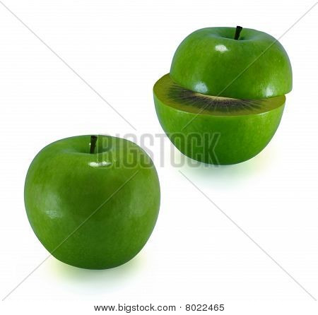 The Transformation Of Apple In An Kiwi