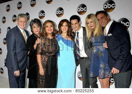 LOS ANGELES - JAN 14:  Cristela Cast at the ABC TCA Winter 2015 at a The Langham Huntington Hotel on January 14, 2015 in Pasadena, CA