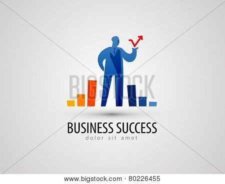 development vector logo design template. business or success icon.