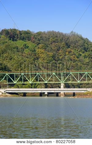 Truss Structure Railroad Bridge