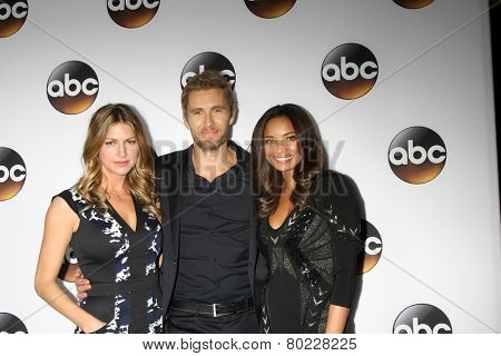 LOS ANGELES - JAN 14:  Jes Macallan, Brett Tucker, Rochelle Aytes at the ABC TCA Winter 2015 at a The Langham Huntington Hotel on January 14, 2015 in Pasadena, CA