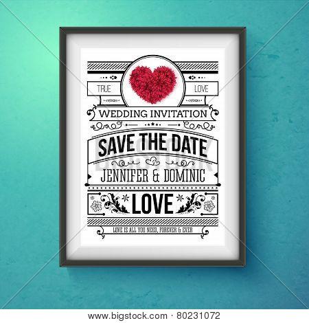 Wedding Invitation Concept Design on Frame
