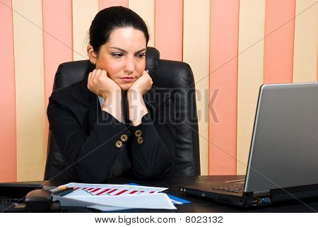 Sad Business Woman In Office
