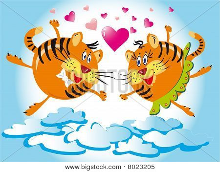 Tigers which fly from love
