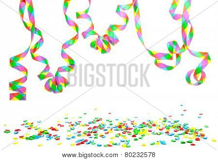 Party utensils. All on white background