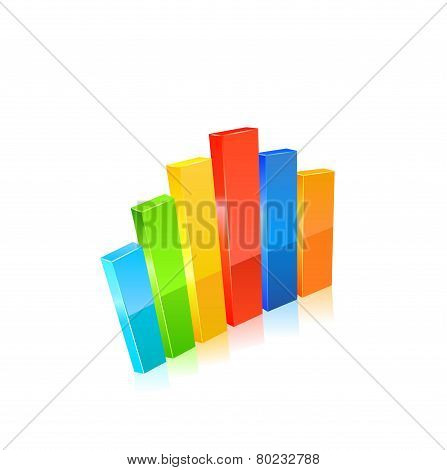 Business graph. Vector