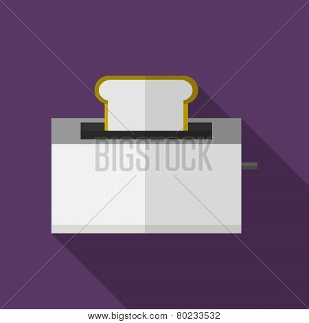 Bread toaster flat vector icon