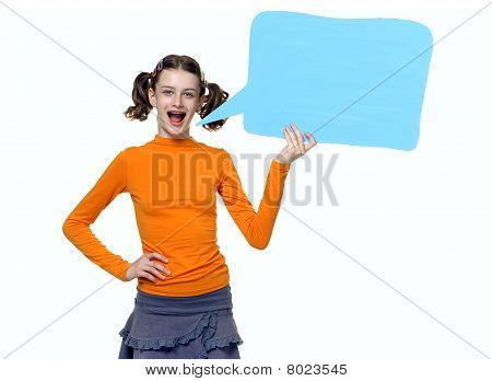 Young Girl Speaking