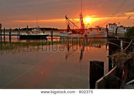 Sunset near Folly Beach