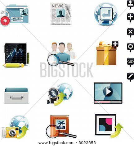 Vector social media icon set. Part 3