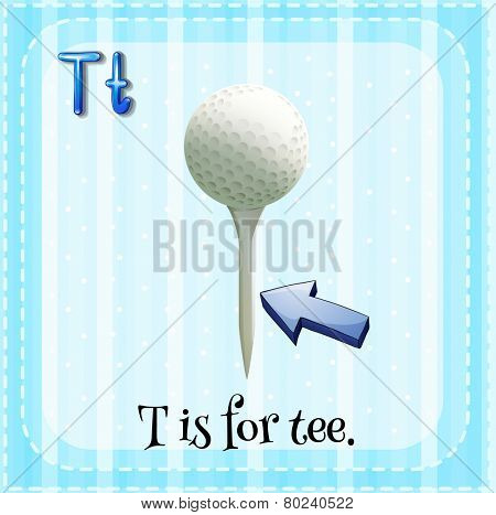 A letter T which stands for tee