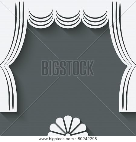 theater stage with curtains