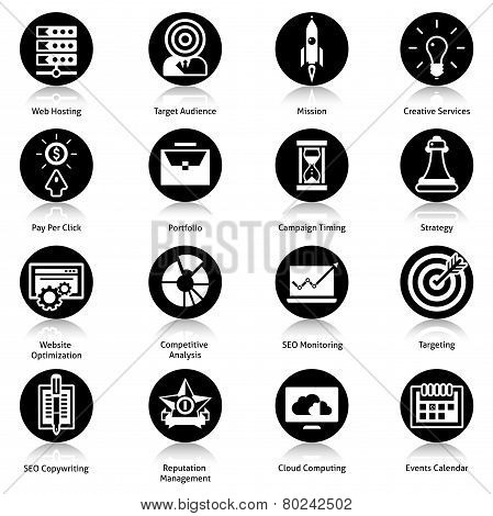 Seo Icons Black