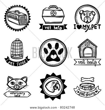 Veterinary Emblems Set