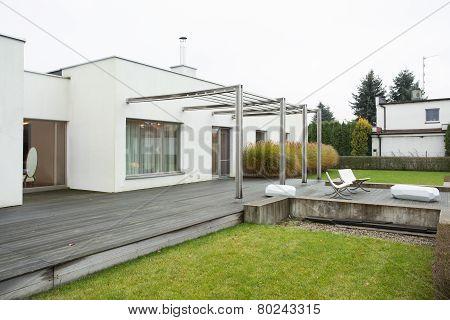 Enormous Terrace Outside Designed Residence