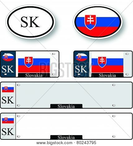 Slovakia Auto Set