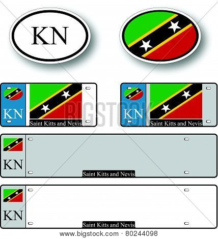 Saint Kitts And Nevis Auto Set