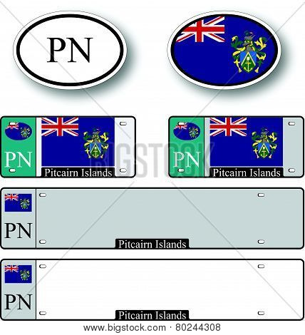 Pitcairn Islands Auto Set