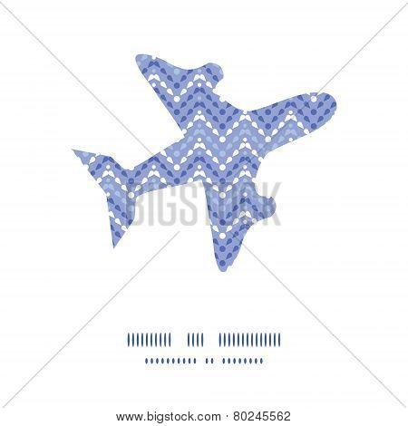 Vector purple drops chevron airplane silhouette pattern frame
