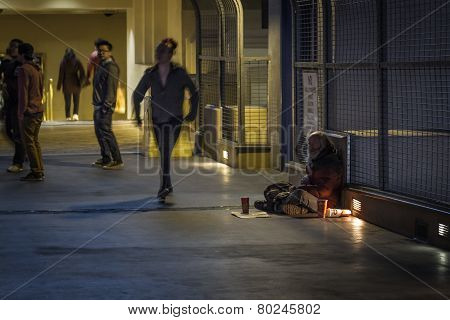 Homeless Man In Las Vegas