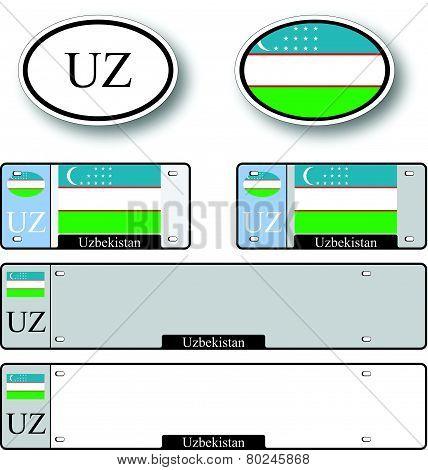 Uzbekistan Auto Set