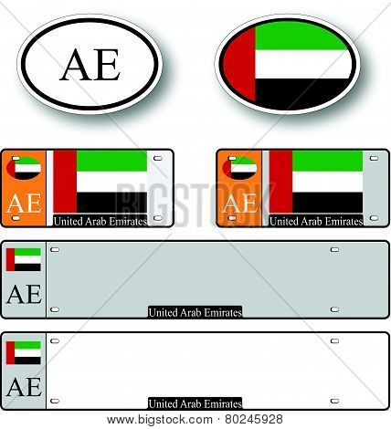 United Arab Emirates Auto Set