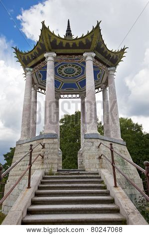 Catherine Park. Pushkin (Tsarskoye Selo). Petersburg. Pavilion in the Chinese style.