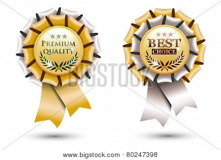Golden Ribbon Rosette