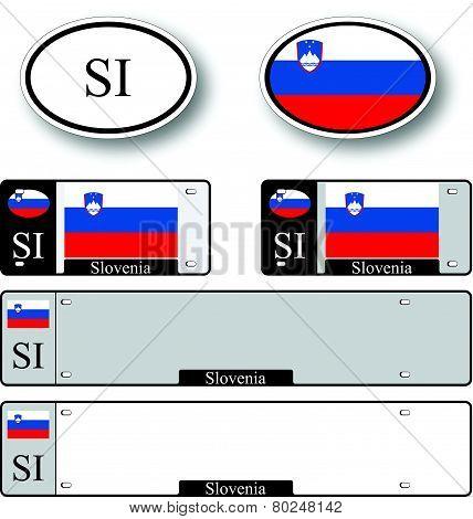 Slovenia Auto Set