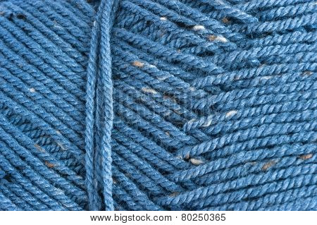 close up of blue wool texture