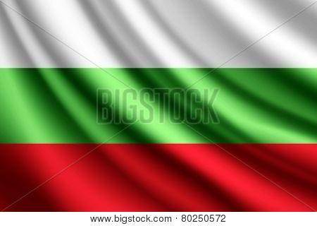 Waving flag of Bulgaria, vector