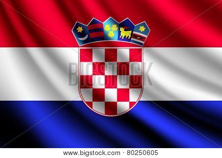 Waving flag of Croatia, vector