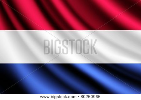 Waving flag of Netherlands, vector