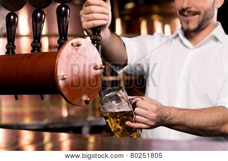 Pouring Beer.