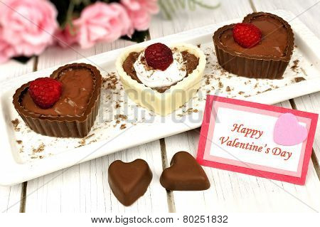 Valentines Card With Dessert Cups