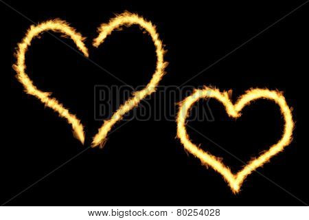 Heart Flame Shapes