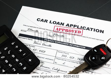 Car Loan Application Approved 001
