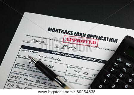 Mortgage Loan Application Approved 001