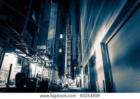 Big City Alley At Night