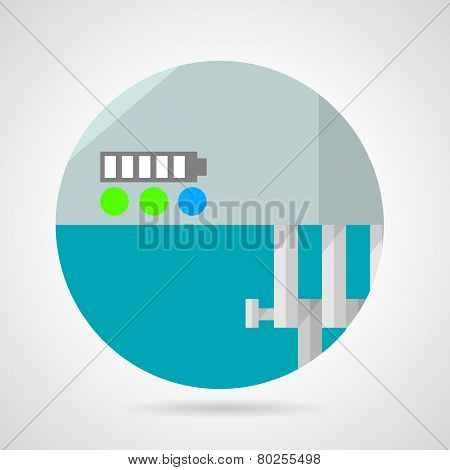 Battery charge level flat vector icon