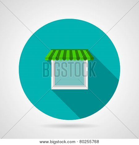 Single window canopy flat vector icon