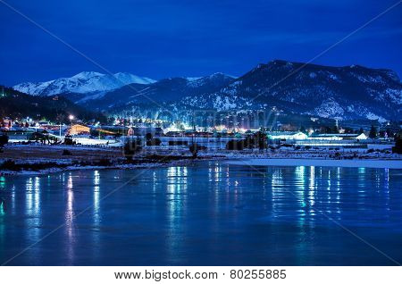 Estes Park Winter Night