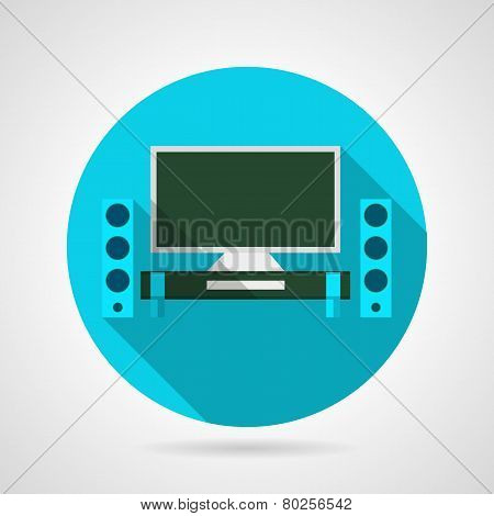 Home theater flat vector icon