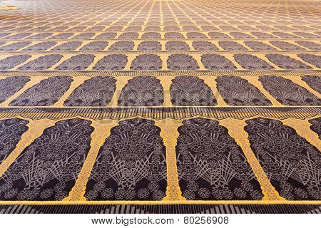Carpet Inside Of The Grand Mosque